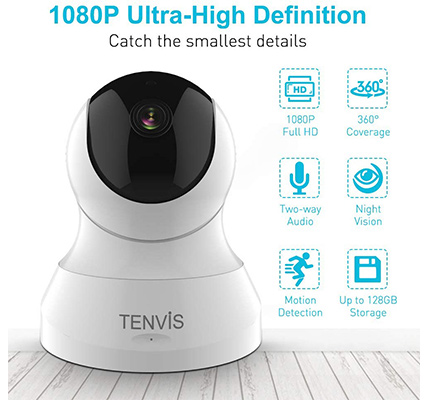 Tenvis dog camera 1080p high definition