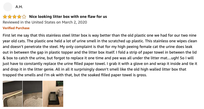 AH - iPrimio Ultimate Stainless Steel Litter Box