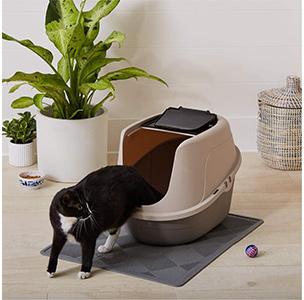 AmazonBasics Hooded Cat Litter Box Usage
