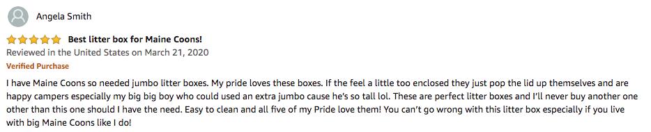 Angela Smith - Catit Jumbo Hooded Cat Litter Box