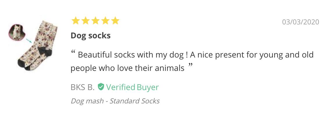 BKS - PrintsField Custom Dog Socks Review