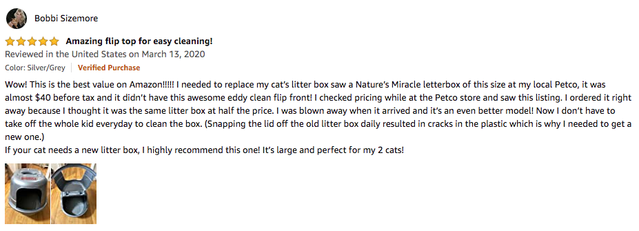 Bobbi Sizemore - Nature's Miracle Litter Box Review