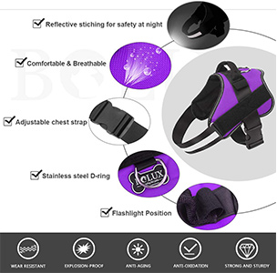 Bolux Dog Harness Features