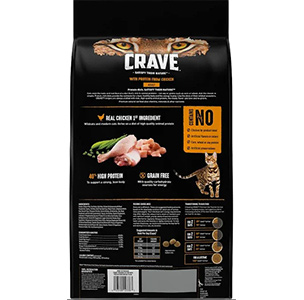 Crave Grain Protein Free High Dry Cat Food Features