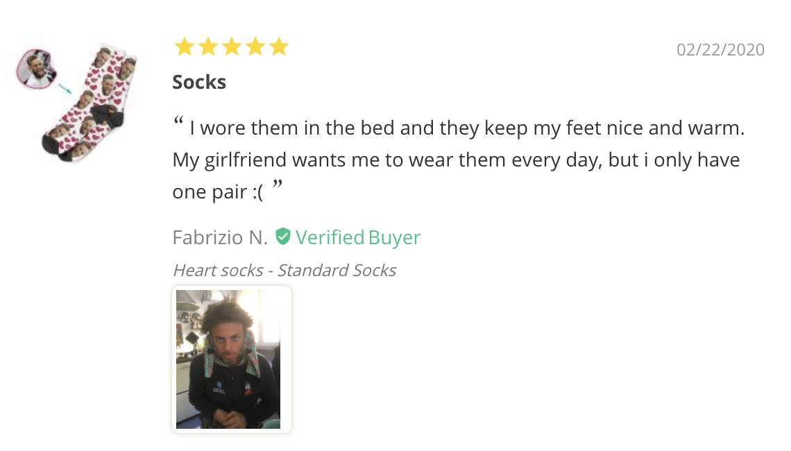 Fabrizio - PrintsField Custom Dog Socks Review