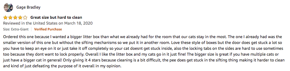 Gage Bradley - Van Ness Enclosed Cat Litter Box Review