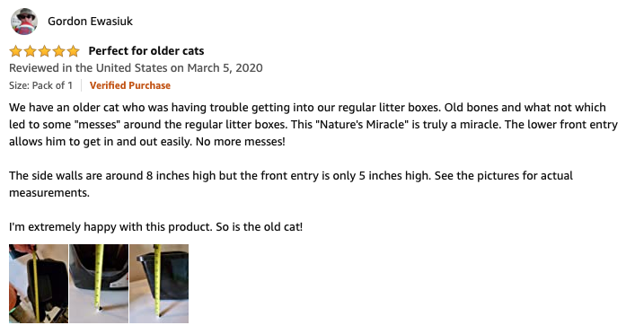 Gordon - Nature's Miracle Litter Box