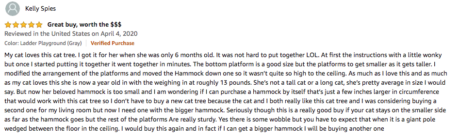 Kelly Spies - Furhaven Pet Cat Tree Review