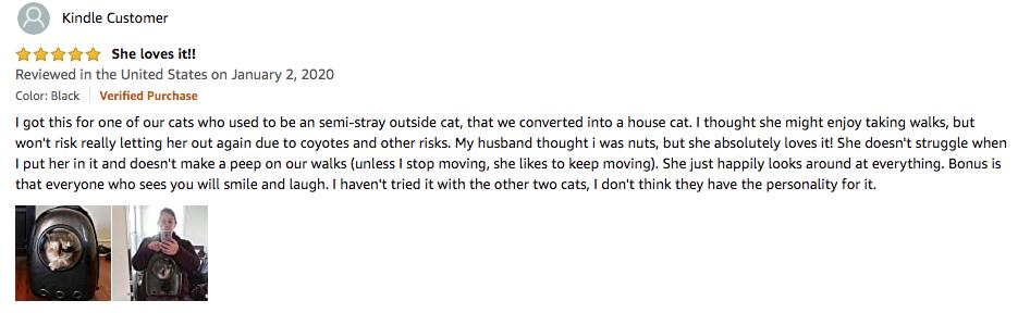 Kindle Customer's LEMONDA cat carrier review