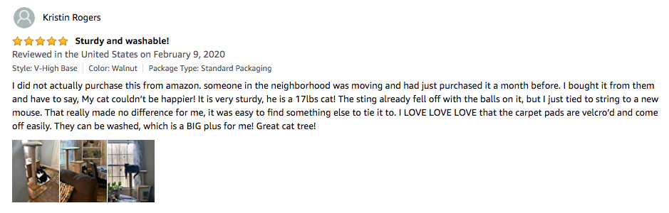 Kristin Rogers' review of cat tree by VESPER