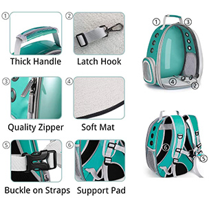 Lollimeow Pet Carrier Backpack Features