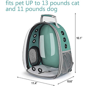 Lollimeow Pet Carrier Backpack Sizes