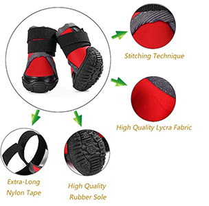 Petilleur Breathable Dog Hiking Shoes for Hot and Sharp Pavement Pet Paws Protector