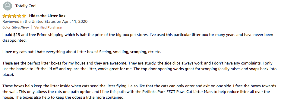 Totally Cool - Nature's Miracle Oval Litter Box Review
