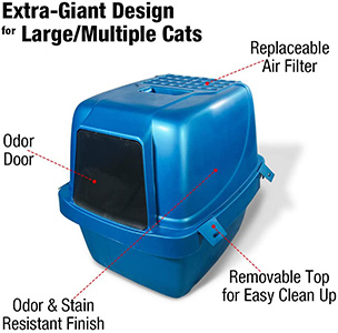 Van Ness Large Enclosed Cat Litter Pan