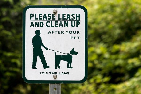 long handled poop scooper sign