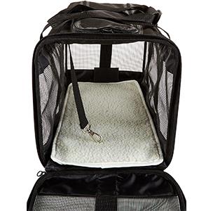 AmazonBasics Mesh Pet Travel Carrier Inside