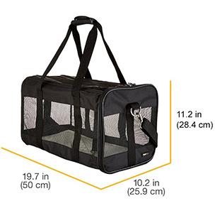AmazonBasics Soft-Sided Mesh Pet Travel Carrier Dimensions