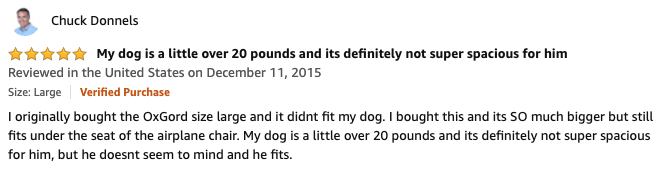 Chuck Donnels - AmazonBasics Soft-Sided Pet Carrier Review