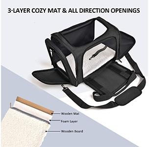 Henkelion Dog Carrier 3 Layer Cozer Mat