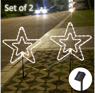 Obrecis LED Stars Solar Lights Outdoor