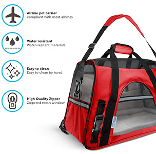 Paws & Pals Airline Approved Pet Carrier Features