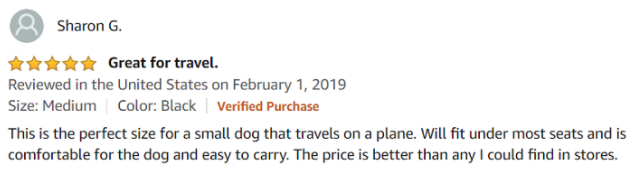 Sharon - Henkelion Dog Carrier Review