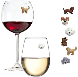 Simply Charmed Magnetic Dog Wine Charms