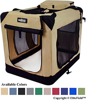 EliteField Soft-Sided Dog Crate