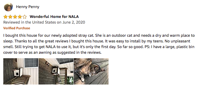 Henny Penny's review of the New Age Pet Cat House