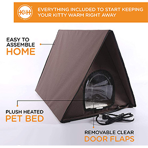 K&H Pet Products Outdoor Multi-Kitty A-Frame Cat House