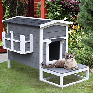 PawHut outdoor cat house review