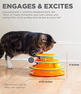 Petstages Cat Tracks Tower Cat Toy