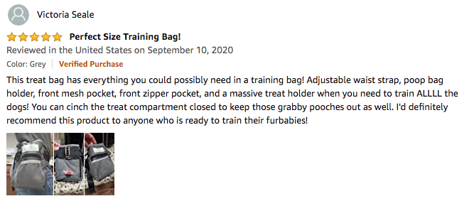 Paw Lifestyles Dog Treat Training Pouch- Victoria Seale