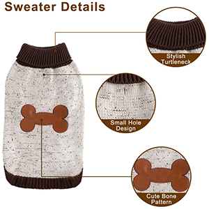 BINGPET Dog Sweater Details