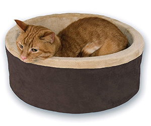 K&H Pet Products Heated Thermo-Kitty Heated Cat Bed