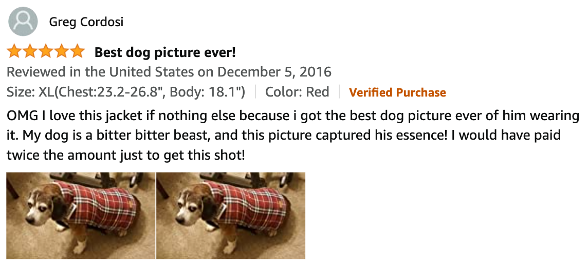 Kouser Cozy Dog Coat Review By Greg
