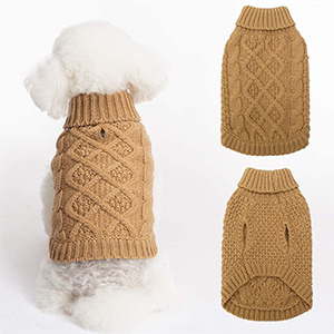 Mihachi Classic Cable Dog Sweater
