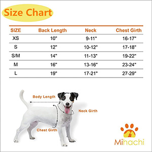 Mihachi Dog Sweater For Cold Sweater Sizing Chart