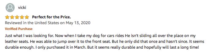 SUPSOO Dog Car Seat Cover - Vicki