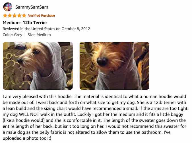 Zack and Zoey Dog Hoodie - Review By Sammy