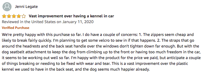 iBuddy Dog Car Seat Covers - Jenni Legate