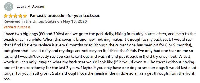 iBuddy Dog Car Seat Covers - Laura M Davsion